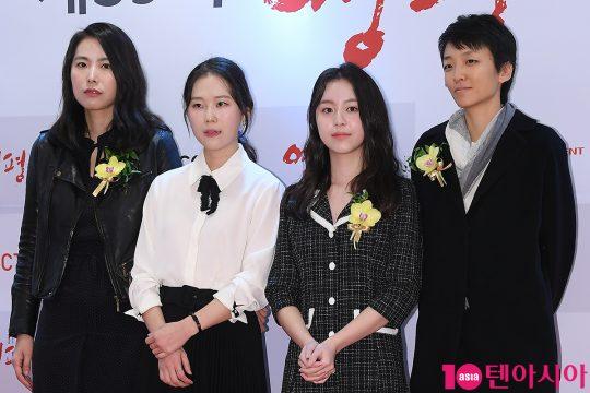 김보라 감독, 배우 김새벽, 박지후, 조수아 PD