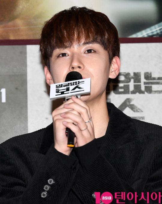 배우 김도훈이 14일 오후 서울 CGV용산 아이파크몰에서 열린 영화 '얼굴없는 보스' 언론시사회에 참석했다./ 조준원 기자 wizard333@