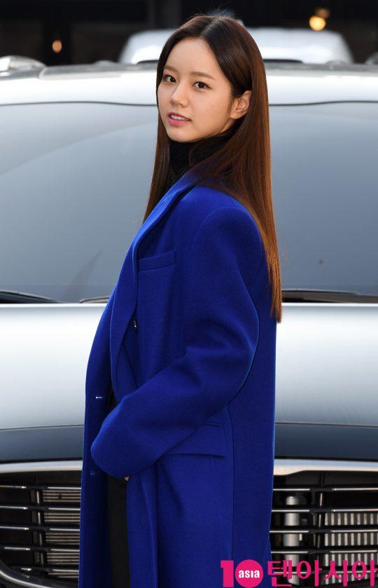 배우 이혜리가 16일 오후 서울 논현로 한 음식점에서 열린 tvN 수목드라마 '청일전자 미쓰리' 종방연에 참석하고 있다.