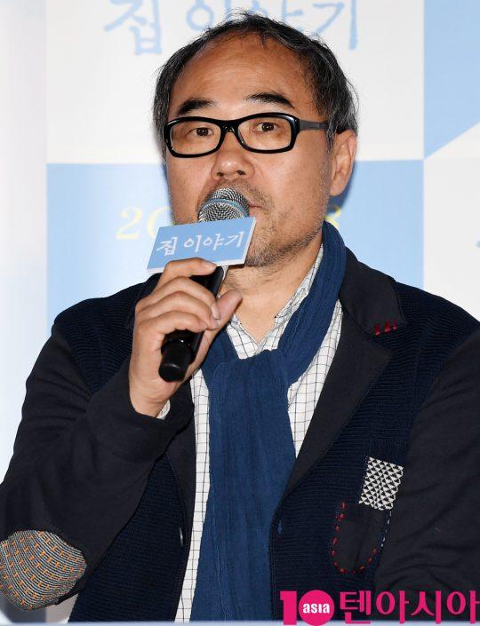 배우 강신일이 18일 오후 서울 한강로 CGV용산아이파크몰에서 열린 영화 '집 이야기' 언론시사회에 참석했다. /조준원 기자 wizard333@
