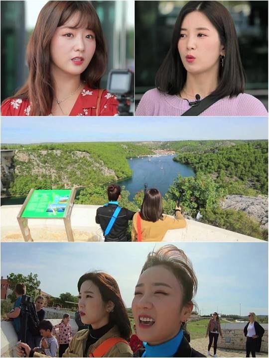 그룹 에이핑크 윤보미, 박초롱./ 사진제공=KBS2 예능 '배틀트립'