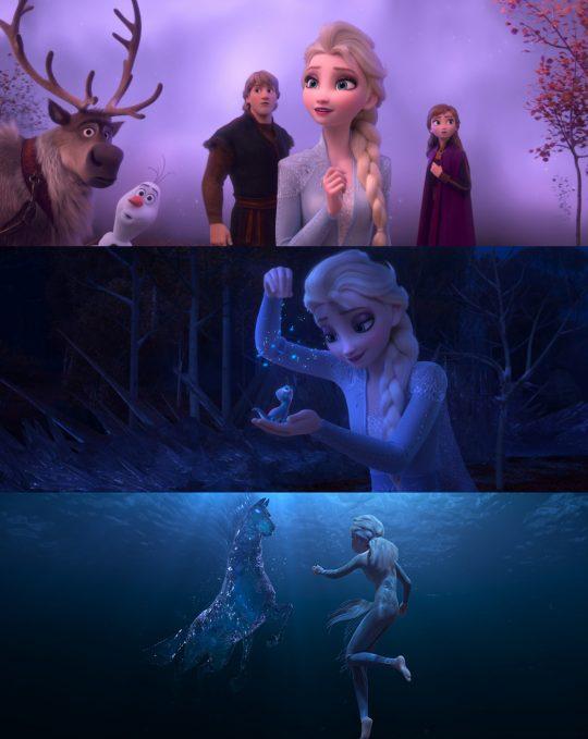 엘사 일행은 마법의 숲으로 떠난 모험에서 물·불·바람·땅 등 4개의 정령을 만난다. /사진제공=월트디즈니 컴퍼니 코리아