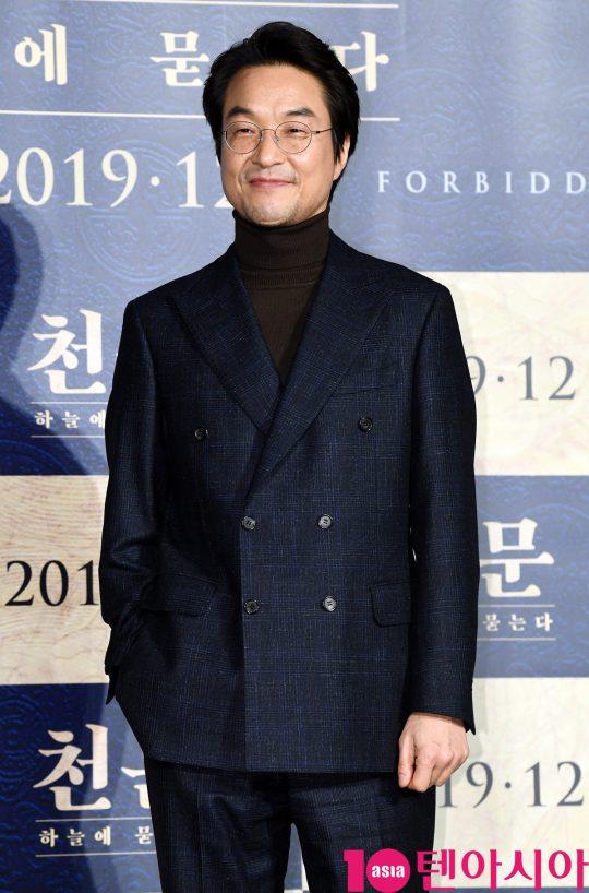 영화 '천문: 하늘에 묻는다'에서 세종대왕으로 분한 배우 한석규./  조준원 기자 wizard333@