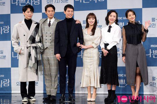 배우 정승빈(왼쪽부터), 윤종화, 이선호, 신고은, 심은진, 오승아