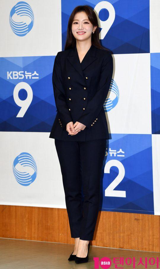 김도연 앵커가 27일 오후 서울 여의도 KBS신관에서 열린 KBS 뉴스 새 앵커 기자간담회에 참석하고 있다.