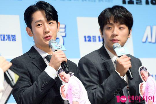 배우 정해인(왼쪽), 박정민