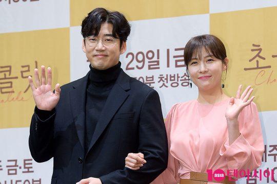 배우 윤계상(왼쪽), 하지원. / 서예진 기자 yejin@