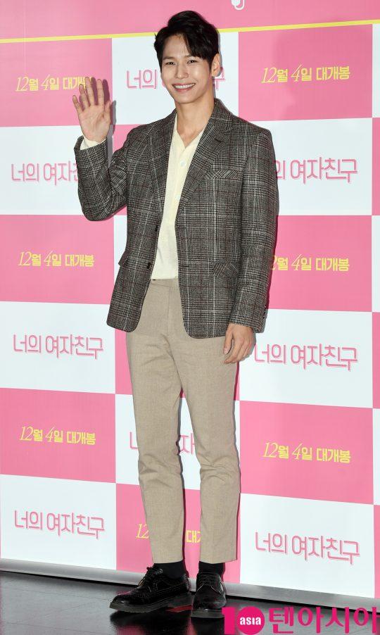 배우 지일주가 29일 오후 서울 자양동 롯데시네마 건대입구점에서 열린 영화 '너의 여자친구' 언론시사회에 참석하고 있다.