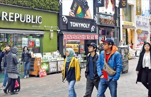 명동 거리 풍경(사진=한국경제 DB)