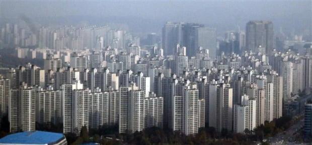 강남지역 아파트 단지들. (자료 연합뉴스)