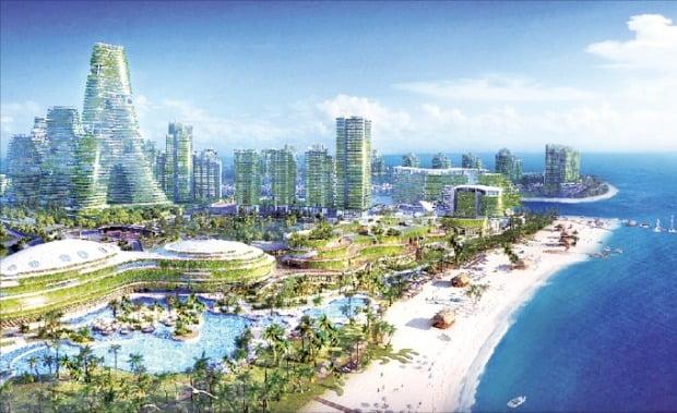 말레이시아 최대 신도시 개발 프로젝트인 '포레스트시티' 조감도