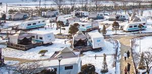 파라다이스 스파 도고의 캐러밴 캠핑장