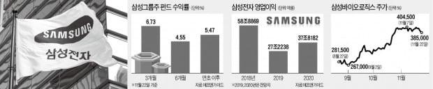 '투톱' 질주…삼성그룹주 펀드 수익률 高高