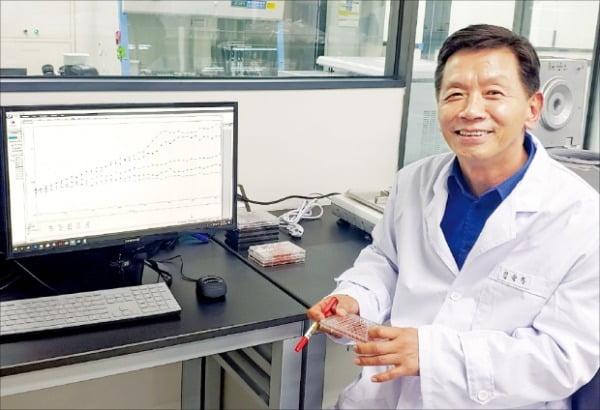 김순하 미토이뮨테라퓨틱스 대표가 서울 문정동 연구소에서 신약 개발 상황을 설명하고 있다. 미토이뮨테라퓨틱스 제공
