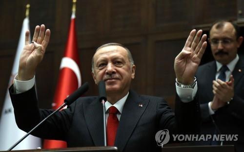 """터키 에르도안 """"쿠르드 민병대 완전히 철수 안 해"""""""