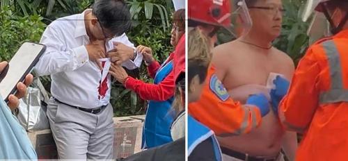 홍콩 시위대 지탄받는 친중파 의원 흉기 공격받아