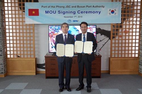 부산항만공사·베트남 하이퐁항만 협력사업 발굴 MOU 체결
