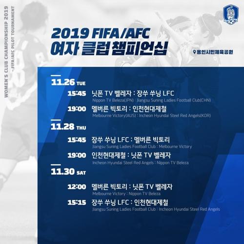 아시아 여자축구 최강 가리는 클럽 챔피언십, 용인서 개최