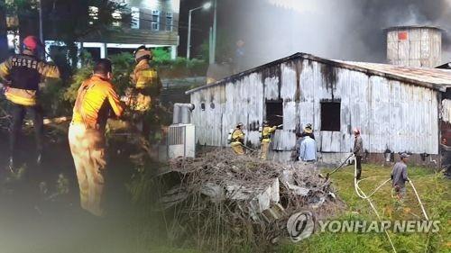 경북 의성 돈사서 불…돼지 170여마리 타죽어