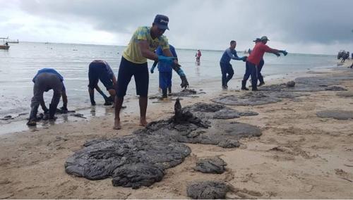 브라질 대서양 해안 기름 찌꺼기 피해 남동부 지역으로도 번져