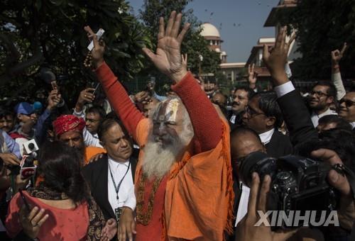 인도 대법원 '사원분쟁' 판결에 힌두교도 환호…무슬림은 반발