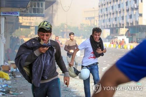 """""""실책 통감"""" 총리 발표에도 이라크 반정부 시위 유혈사태 지속"""