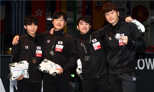 한국 펜싱 남자 플뢰레, 본 월드컵 단체전 은메달