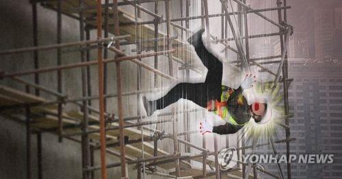 인천 공사장 철재 구조물서 50대 근로자 추락해 숨져