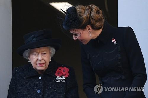 英 전사자 추도일 행사 개최…왕실 가족·정치 지도자 등 참석