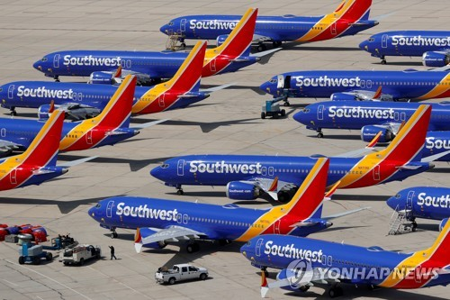 美항공사, 보잉737맥스 운항 중단 내년 3월 초까지 연장
