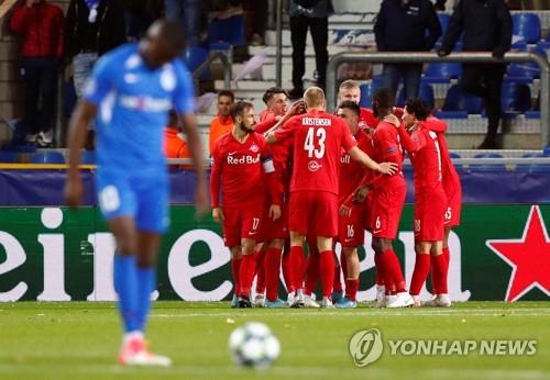 황희찬 UCL 3호골…잘츠부르크, 헹크에 4-1 완승