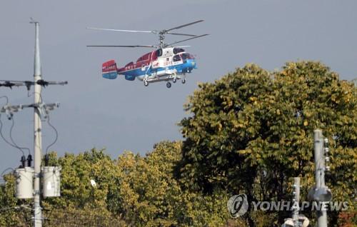 일본 순시선 대응 과정에 독도 소방헬기 '앞바퀴' 발견(종합)