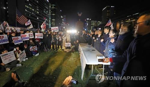 """한국당, 지소미아 종료연기에 """"산 하나 넘었다""""…黃 단식은 계속"""