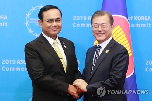 """文대통령 """"자유무역이 공동번영의 길…東亞 평화 더욱 협력키로"""""""