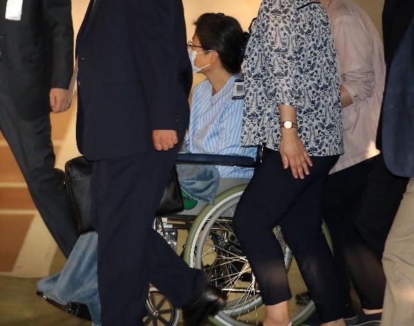 지난 9월 16일 병원에 입원하는 박근혜 전 대통령. 사진=연합뉴스