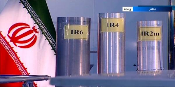 이란 나탄즈 우라늄 농축시설의 원심분리기  /AP