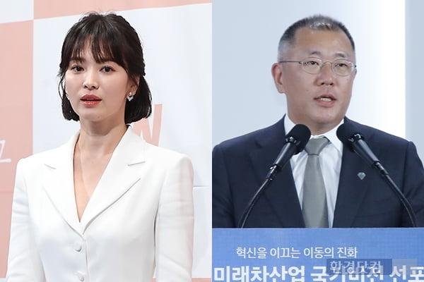 송혜교, 정의선 현대차 부회장/사진=한경DB, 연합뉴스