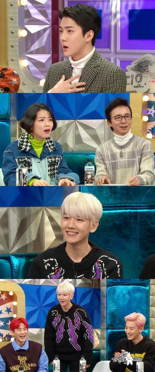 '라디오스타'에 출연하는 엑소/사진=MBC '라디오스타'