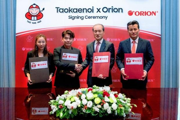 오리온이 태국 타오케노이 김스낵 제품을 중국에 선보이고 있다. (사진 = 오리온)
