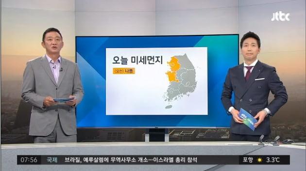 '막나가쇼' 허재가 기상캐스터에 도전했다. /사진=JTBC