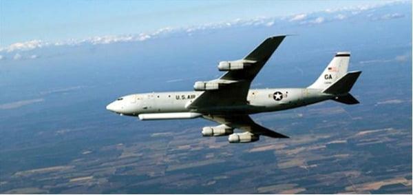 21일 한반도에서 대북 감시비행에 나선 미국 정찰기 E-8C/사진=미 공군 웹사이트 캡처