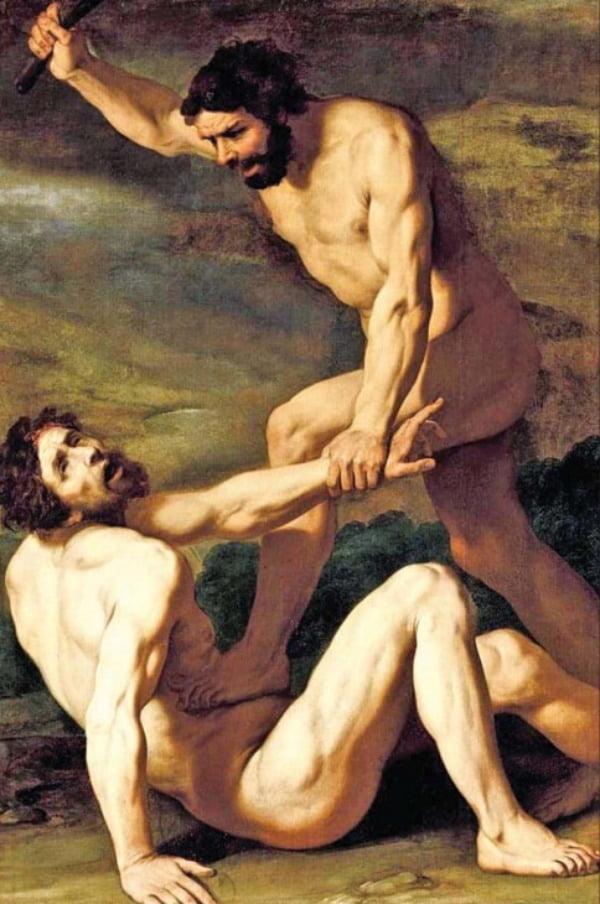 이탈리아 밀라노 화가 다니엘레 크레스피(1598~1630)의 '아벨을 죽이려는 악의에 가득 찬 카인' (1618년작, 유화, 184㎝×126㎝)