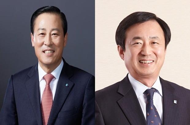 (사진 왼쪽부터) 김도진 은행장, 임상현 전무.(사진=IBK기업은행)