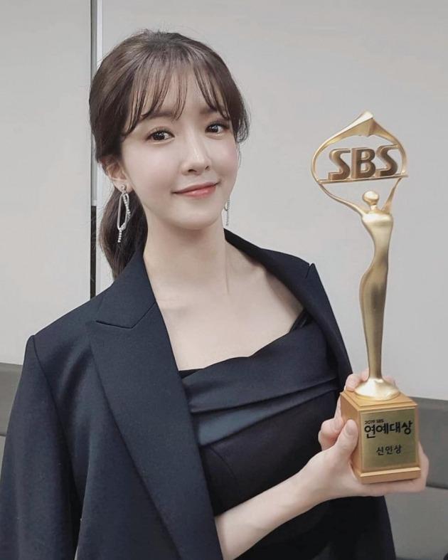 정인선 '2019 SBS 연예대상' 2관왕 /사진=씨제스엔터테인먼트 SNS