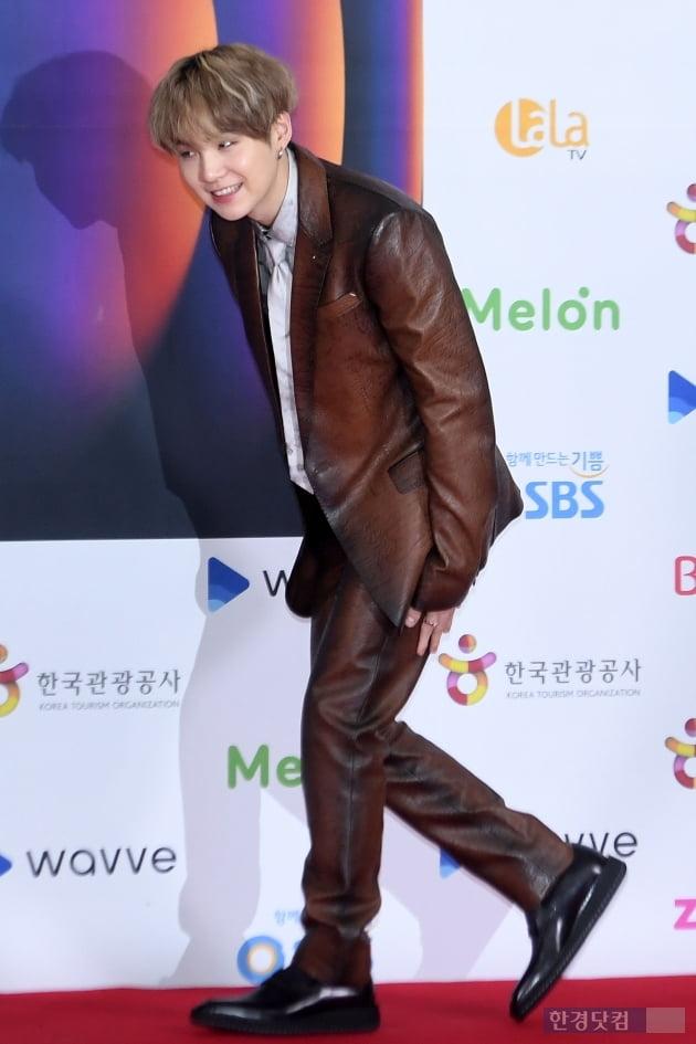 [포토] 방탄소년단(BTS) 슈가, '깜찍한 등장'(SBS 가요대전)