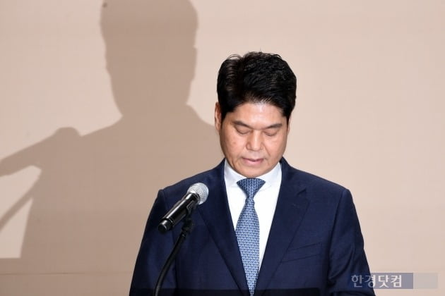 """[포토] 허민회 CJ ENM 대표 """"300억원 규모 기금 및 펀드 조성"""""""