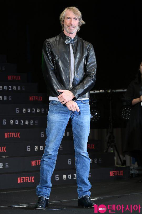 21일 오전 서울 새문안로 포시즌스호텔에서 열린 넷플릭스 영화 '6 언더그라운드' 내한 기자회견에 참석한 마이클 베이 감독./ 이승현 기자 lsh87@