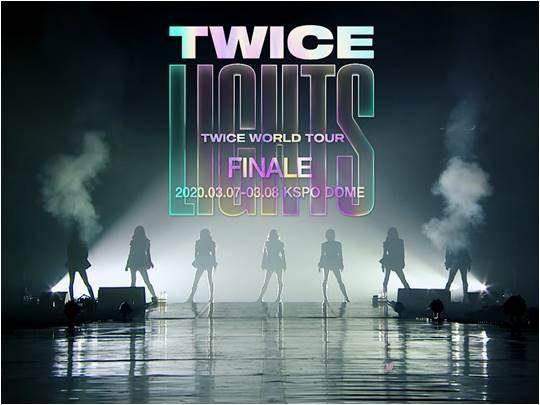 """트와이스 'TWICE WORLD TOUR 'TWICELIGHTS' in Seoul 'Finale"""" 영상 화면 캡처."""