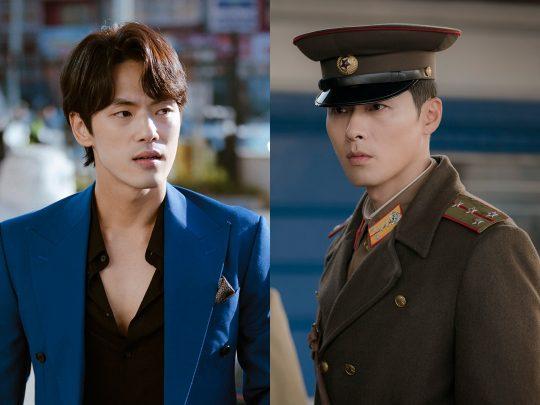 '사랑의 불시착' 의 김정현(왼쪽), 현빈./사진제공=tvN