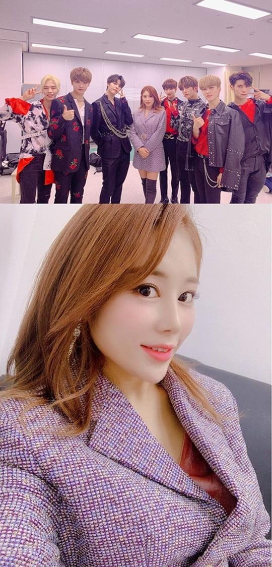 미스트롯 김소유, 더쇼 출연 앞서 인증샷 공개 (사진=SNS)